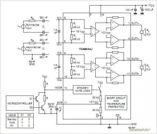 car audio amplifier using tda2003