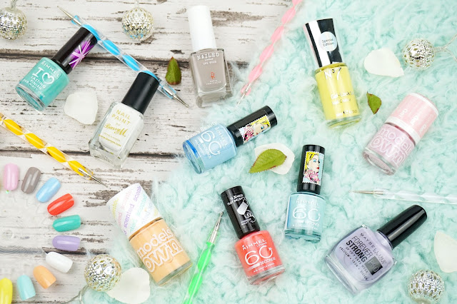 Spring, 2016, Nail Polishes, Favourites, Nails, Manicure, Manicure Mondays, Models Own, Rimmel, Barry M, Maybelline, NAILED London
