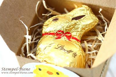 Ostergeschenke basteln; Stampinup Osterverpackung; Osterworkshop; Mini-Geschenkschachteln; stampinup bestellen; stempel-biene; Küken colorieren