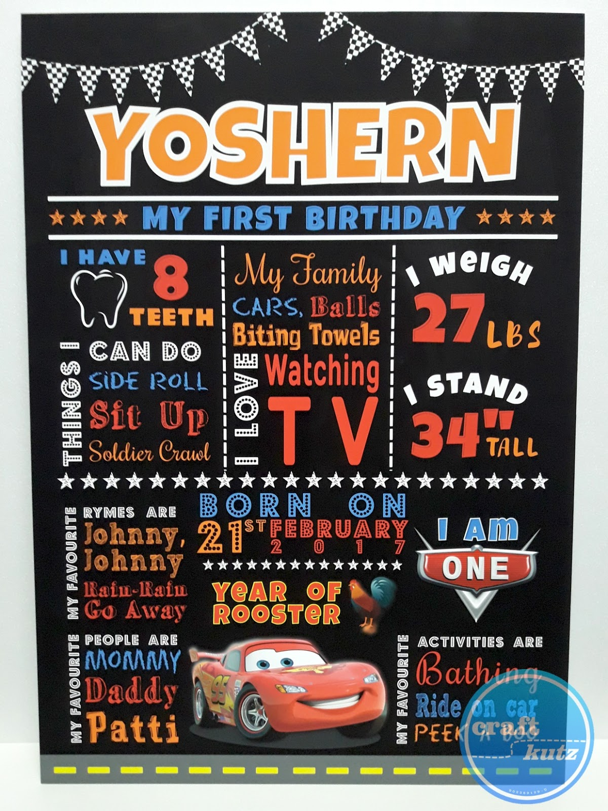 Disney Cars Birthday Theme Craft Kutz