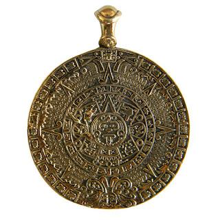 Купить кулон календарь ацтеков, украшение тональпогуали индейские подвески
