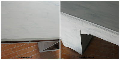 homemade chalk paint the white desk2