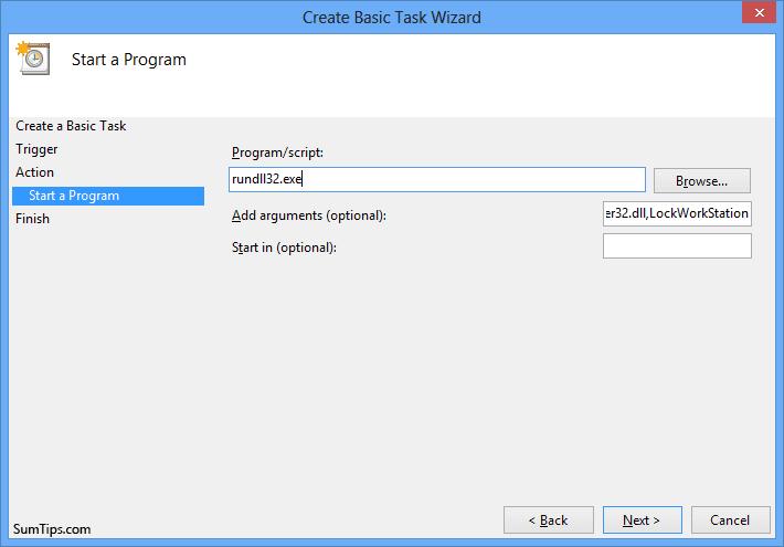 Auto lock scheduled task