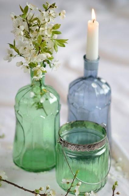 Decorate With Glass Bottles And Flowers 7