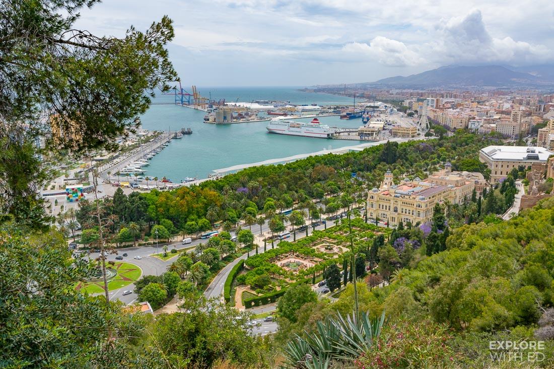 View over Malaga port