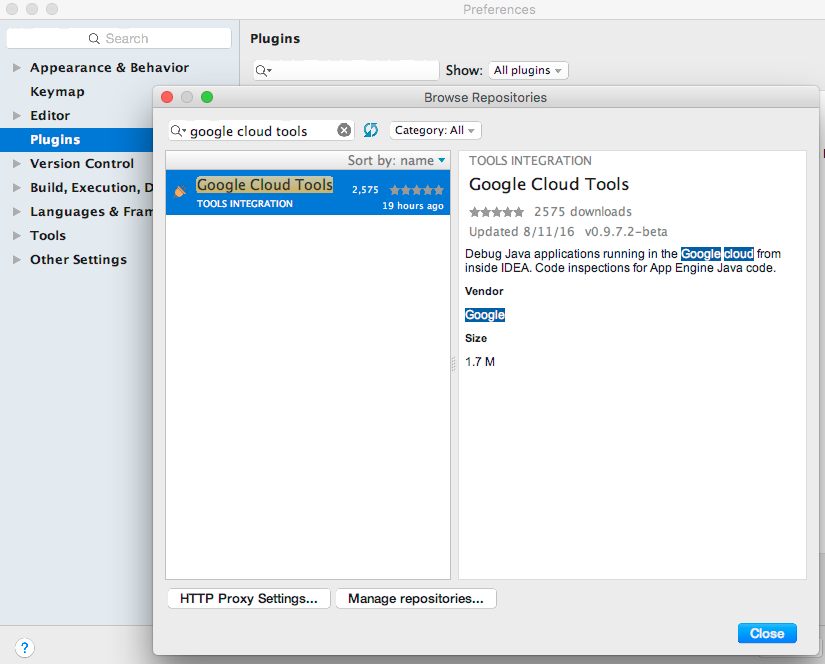 Never leave your Java IDE with Google Cloud Tools for