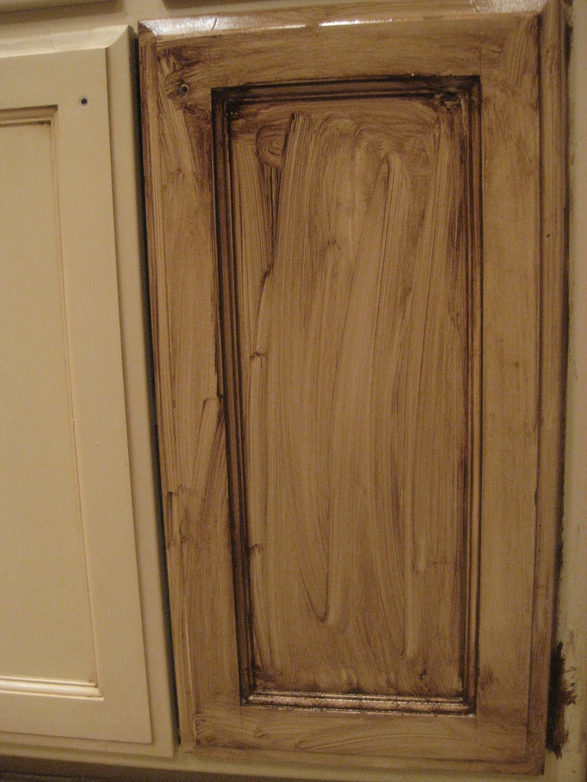 Diy Painting Kitchen Cabinets Antique White Refinishing Oak Cabinets With Glaze Roselawnlutheran