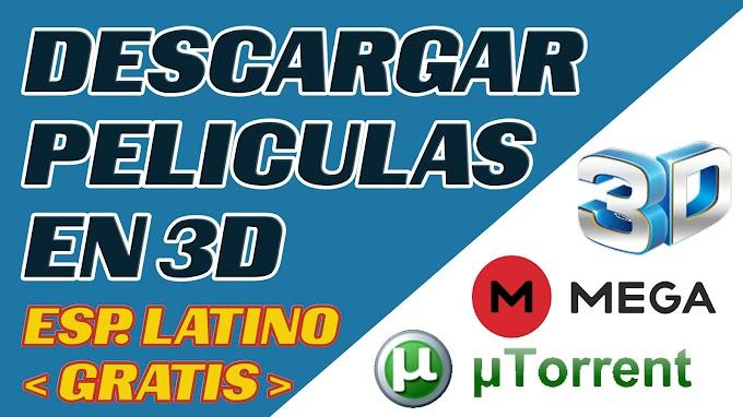 COMO DESCARGAR PELICULAS 3D | FULL HD 1080p | Dvdrip | Esp Latino | Mega |  Torrent | Gratis