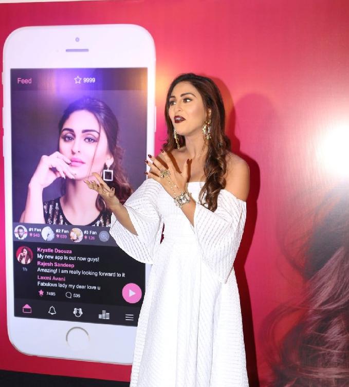 Krystle D'Souza Mobile App Launch Stills