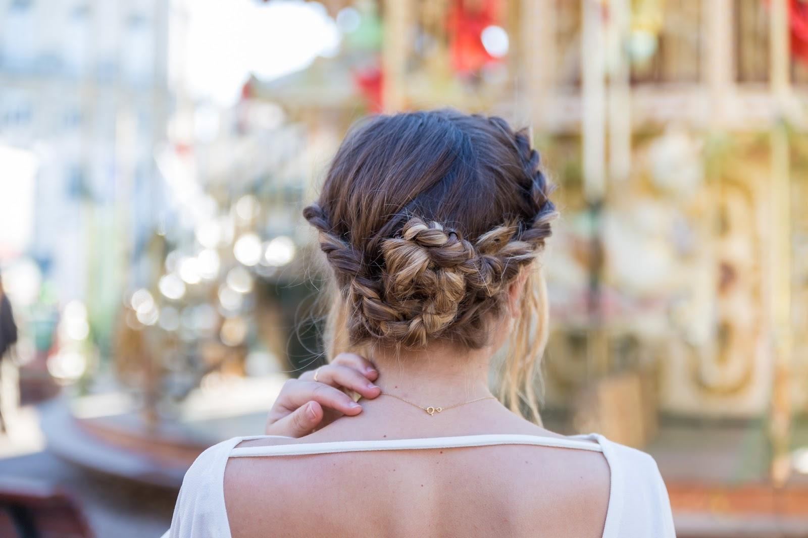 coiffure tresse couronne chignon
