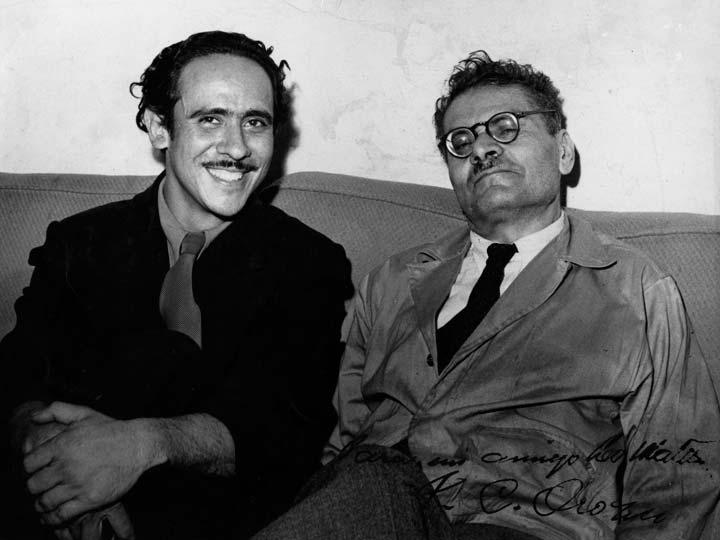 Leo Matiz y José Clemente Orozco. Fuente: Fundación Leo Matiz
