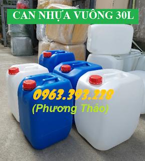 Cung cấp can nhựa đựng hóa chất dung môi giá tốt tại Hà Nội