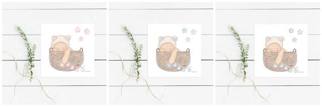 láminas infantiles bebés y niños, abecedarios para enmarcar -OSITOS