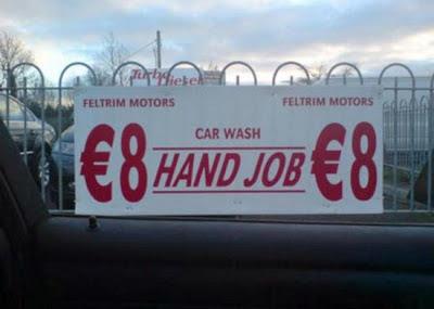 lustige Schilder Auto Waschanlage
