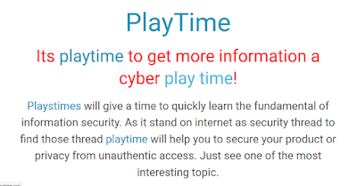 PlayTime Cyber Information