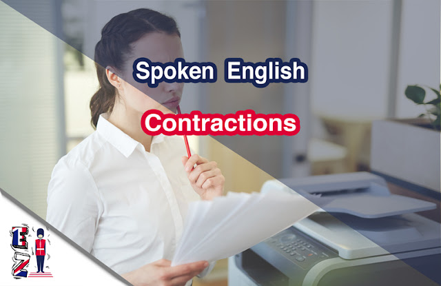 Learn the most used contractions in English