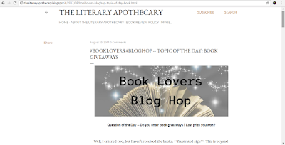 Book Lovers Blog Hop Day 25