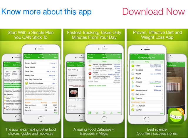 Download Calorie Counter and Diet Tracker PRO by MyNetDiary for iOS and Watch