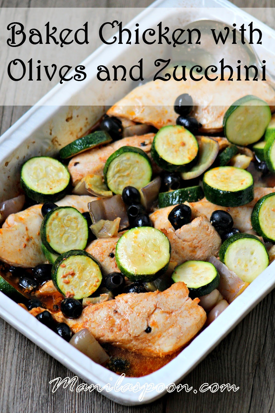 Baked Chicken with Olives and Zucchini