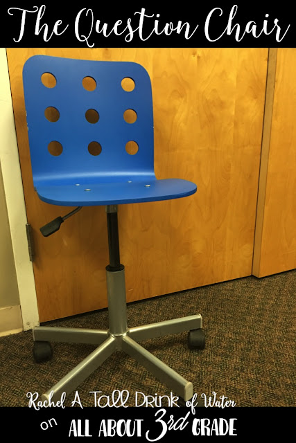 How I stopped my students from interrupting my small group...The Question Chair www.allabout3rdgrade.com