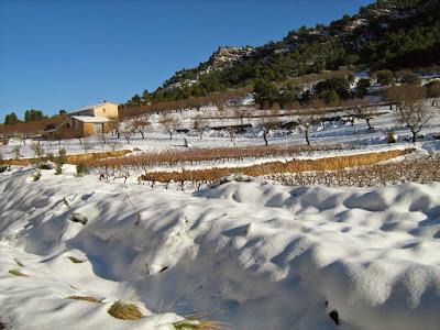 clima, Beceite, nieve, frío, nevada, está nevando, Beseit, neu, mas de Ferrás, masía, pantano de Pena