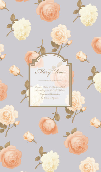 Mary Rose / Powder Blue & Apricot Pink