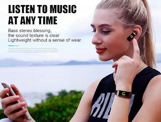 braccialetto sport touch auricolare bluetooth