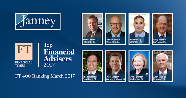 "Eight Janney Advisors Named to Financial Times ""FT 400"" List of Top Advisors"