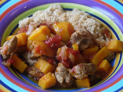 Chicken Stew with Sweet Potatoes and Dried Apricots