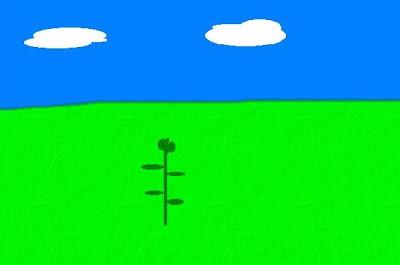 Dibujo de la Parábola 4 del Sembrador (planta dió fruto)