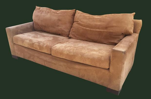 Uhuru Furniture Collectibles Tan Microfiber Sofa 225