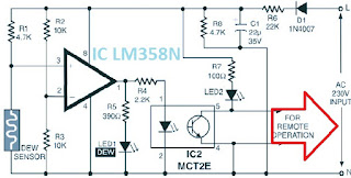Dew sensor circuit