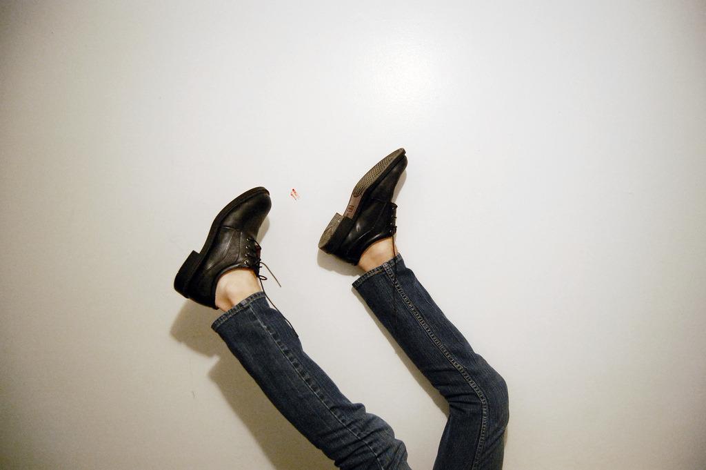 upside down feet