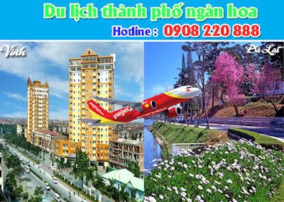 Vé máy bay Vinh đi Đà Lạt