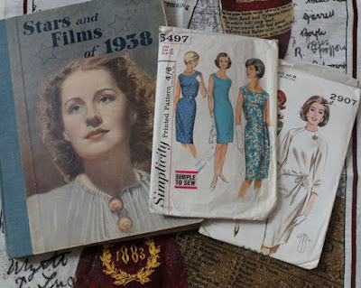 1938 film book, 1960s dress patterns