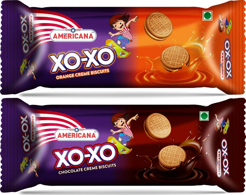 Americana Xoxo Orange and Xoxo Chocolate Creme Biscuits