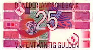 bankbiljet van 25 gulden