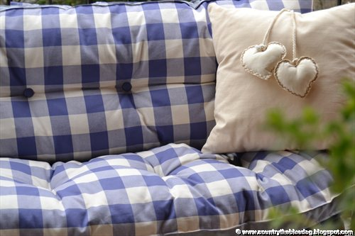 country the blue dog sartoria d 39 interni cuscini per On cuscini per panche