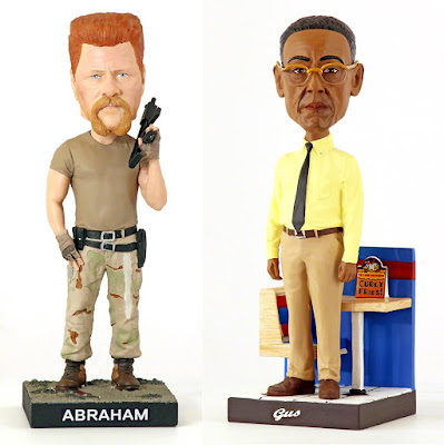 San Diego Comic-Con 2018 Exclusive The Walking Dead Abraham Ford & Better Call Saul Gus Fring Bobble Heads by Royal Bobbles