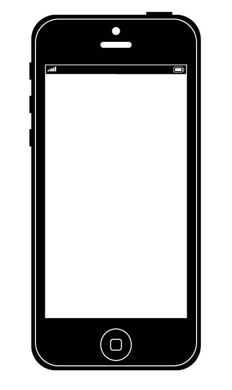 BradHallArt Blog: How to draw an iPhone 5 vector graphic ...