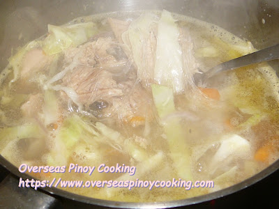 Salmon with Sotanghon Noodle Soup - Cooking Procedure
