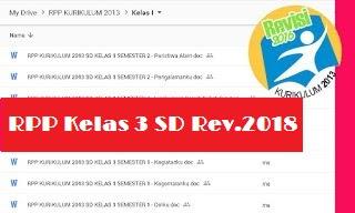 RPP Kelas 3 Kurikulum 2013 Revisi 2018 Semester 2 Tema Indahnya Persahabatan