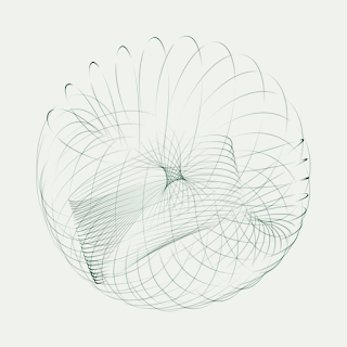 Creative coding makes interesting swirl image.