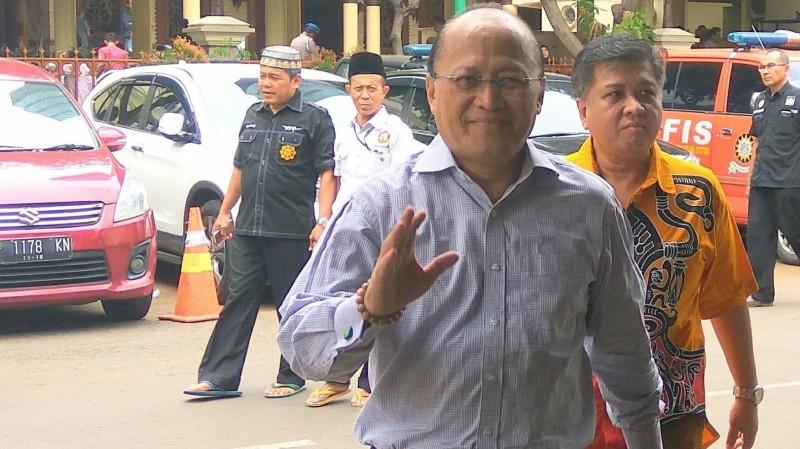 Mario Teguh menjalani pemeriksaan di Mapolda Metro Jaya