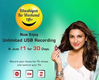 Videocon d2h Khushiyon Ka Weekend Offer