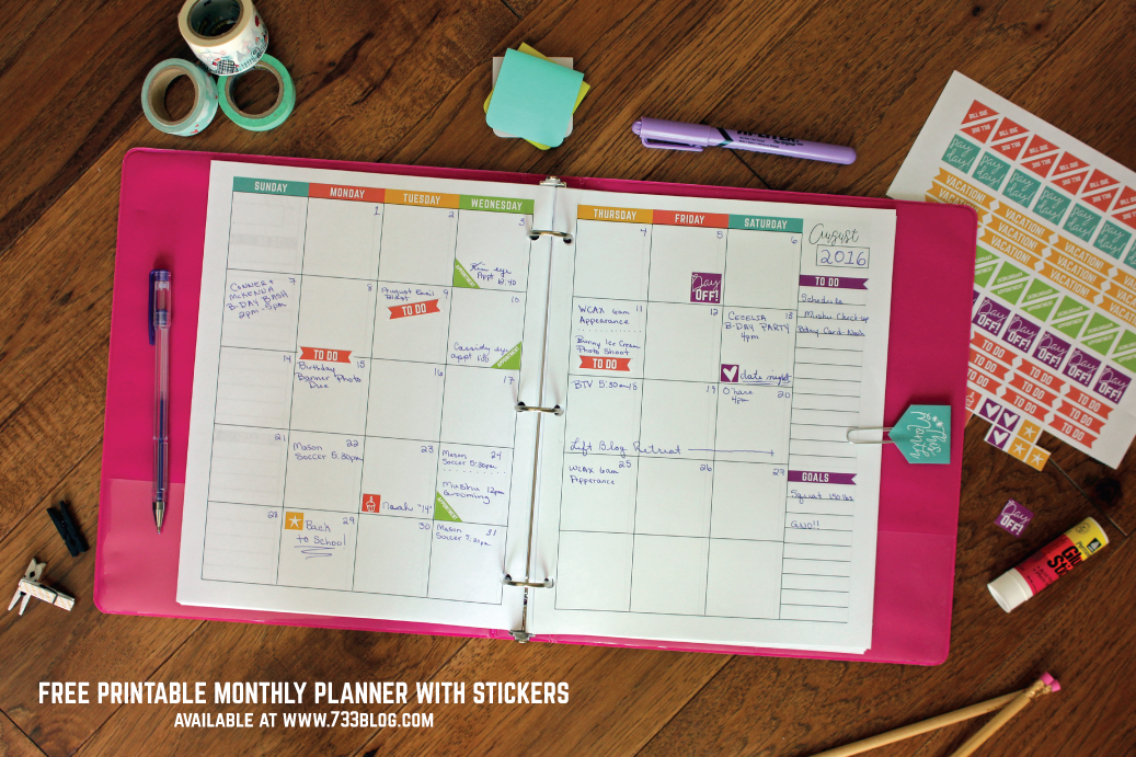 Musings Of An Average Mom Free 2017 Planner Printables