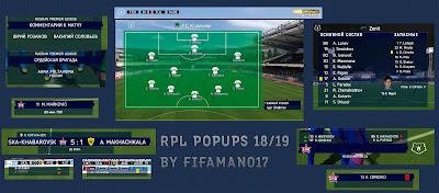 FIFA 14 Scoreboard Russian Premier League Season 2018/2019
