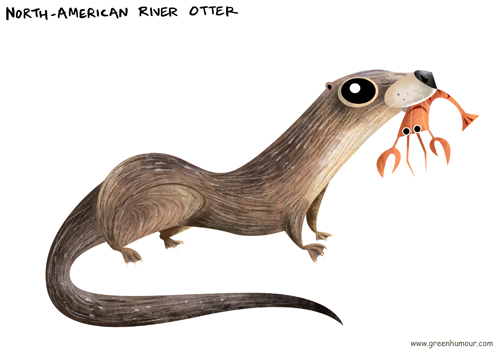 Green Humour: Otters of the World