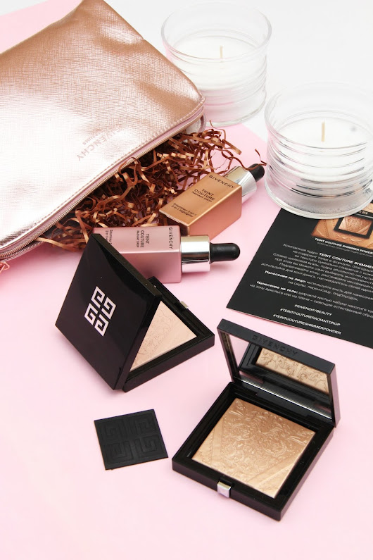 mirandabeautyworld: Хайлайтер Givenchy TEINT COUTURE SHIMMER POWDER и База-флюид TEINT COUTURE RADIANT DROP