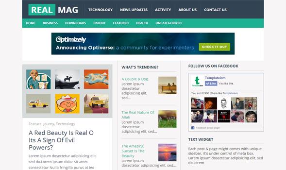 RealMag  Newspaper Blogger Template